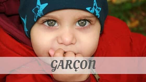 How To Say Garçon?
