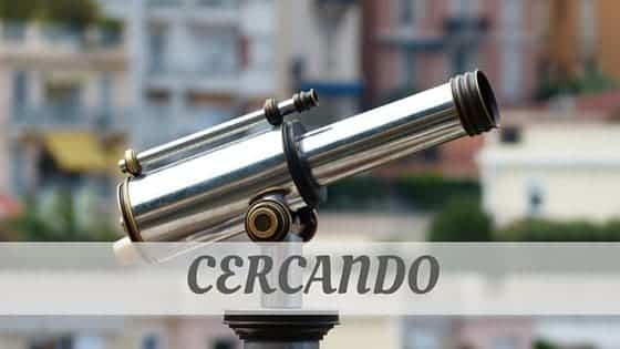 How To Say Cercando