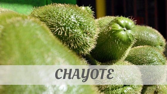 How To Say Chayote