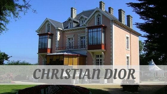 How To Say Christian Dior