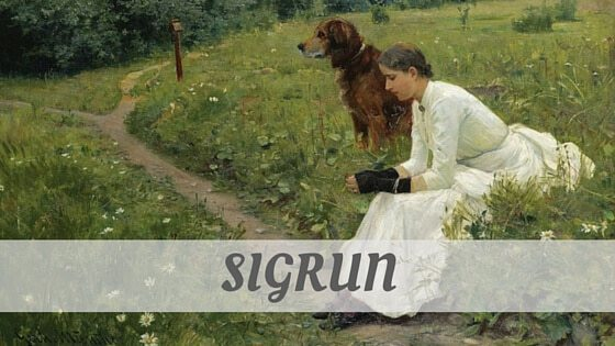 How To Say Sigrun