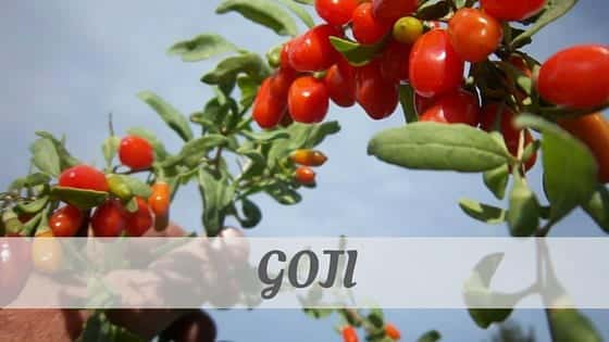 How To Say Goji
