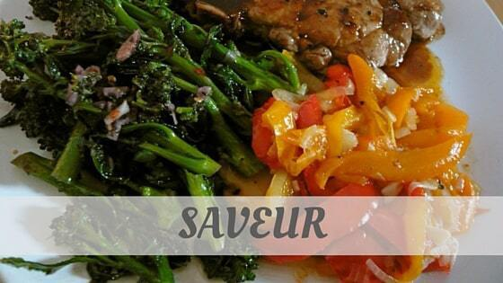 How To Say Saveur