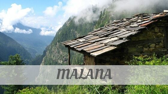 How To Say Malana