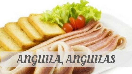 How Do You Pronounce Anguila, Anguilas?