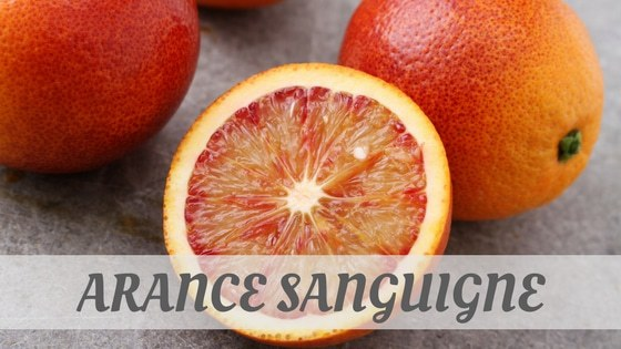 How To Say Arance Sanguigne