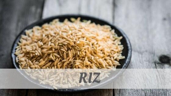 How Do You Pronounce Riz?