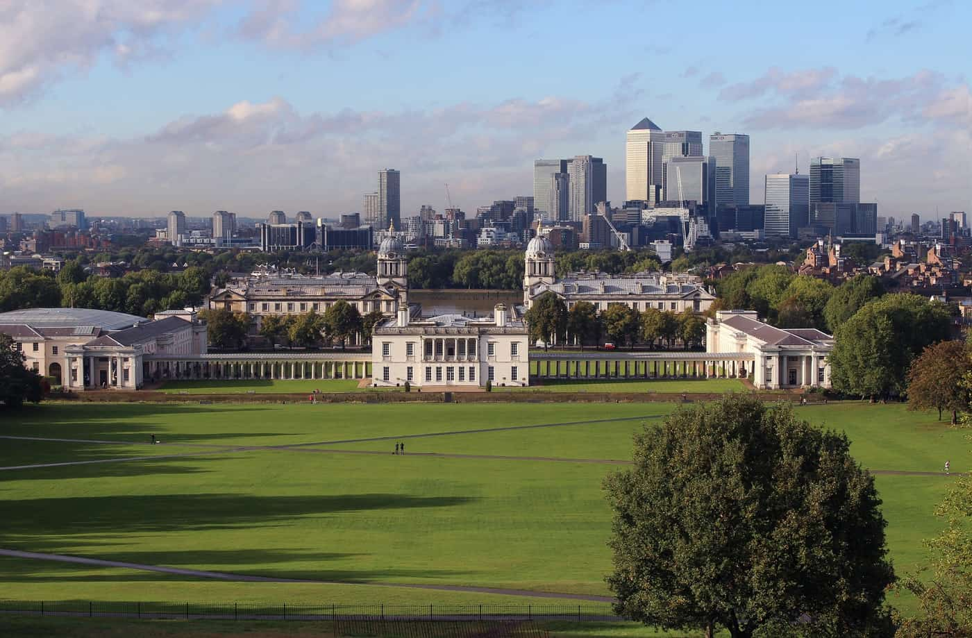 Greenwich Park and Buildings in London