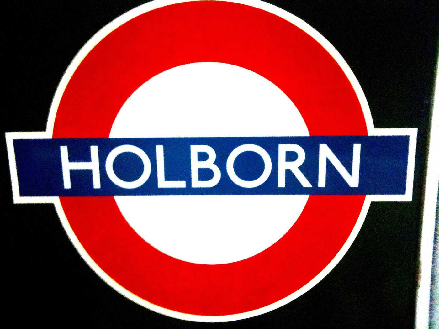 Holborn Tube Station sign howdoyousaythatword