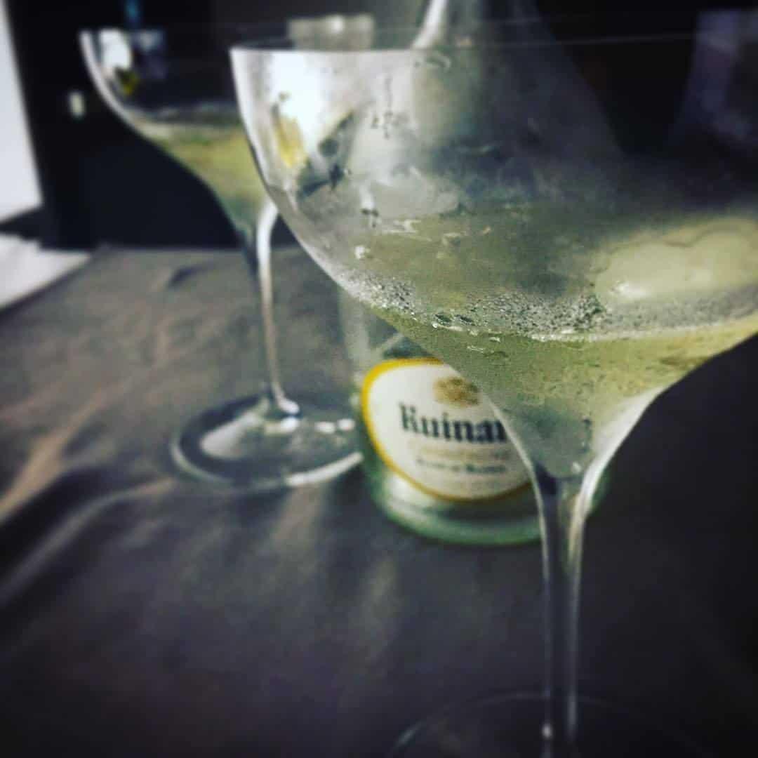Ruinart champagne in coupe