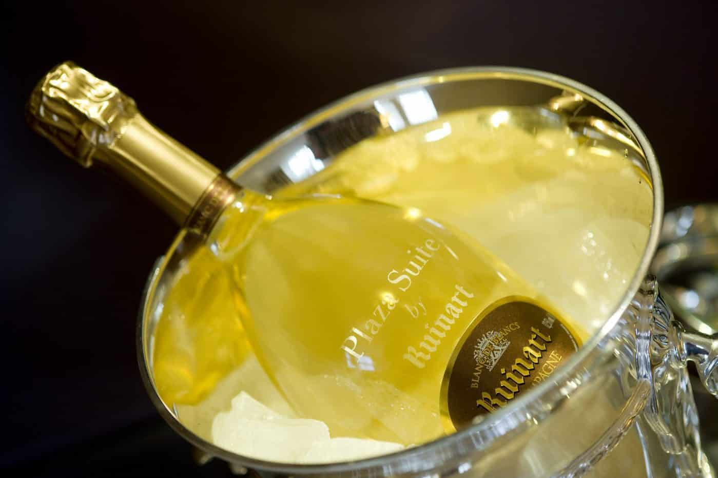 Ruinart champagne on ice